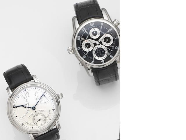 A lot of two stainless steel Maurice Lacroix wristwatches