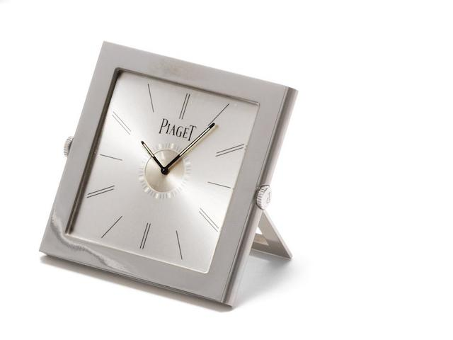 Piaget. A stainless steel quartz travel alarm clock Altiplano, Ref:P10613, Case No.989099, Recent