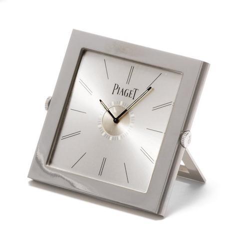 Piaget. A stainless steel quartz travel alarm clock Altiplano, Ref:P10613, Case No.989099, Recent