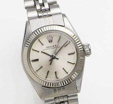 Rolex. A lady's stainless steel automatic bracelet watch Oyster Perpetual, Ref:6619, Case No.1434464, Movement No.95728, Circa 1966