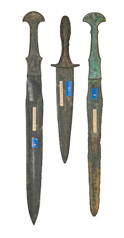 Three Luristan Bronze Daggers