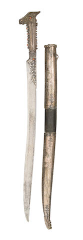 A Turkish Silver-Mounted Yataghan