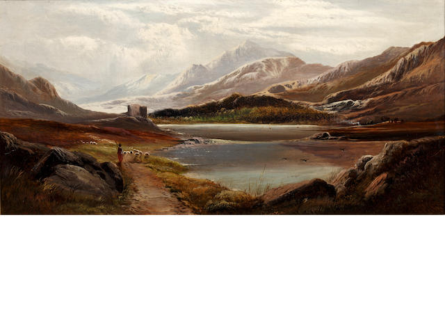 Charles Leslie (British, circa 1835-1890) Highland loch scene, and another similar,
