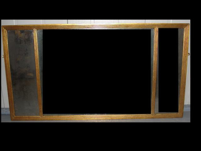 An early 20th century  gilt framed wall mirror