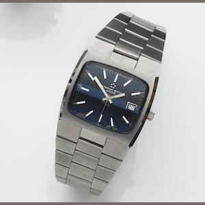 Eterna. A stainless steel automatic calendar bracelet watch Eterna-matic 2002, Case No.7015273, Sold 22nd November 1984