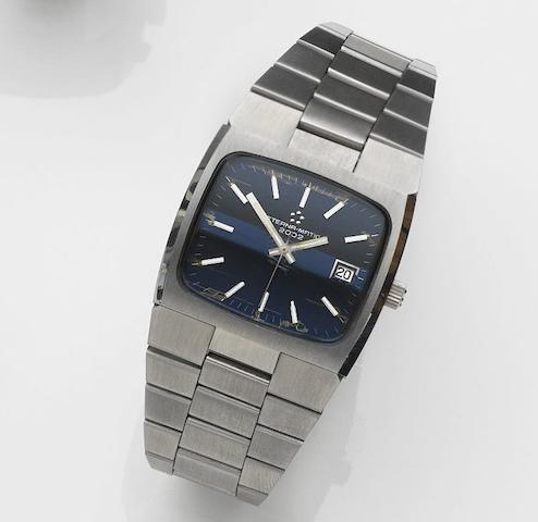 Eterna. A stainless steel automatic calendar bracelet watchEterna-matic 2002, Case No.7015273, Sold 22nd November 1984