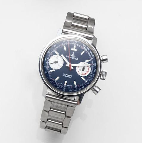 Dugena. A stainless steel manual wind bracelet watch Ref:3752MS, Case No.520026, Circa 1975