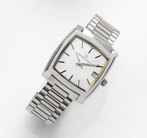 Eterna. A stainless steel automatic calendar bracelet watchEterna-Matic, Ref:633.2058.41, Circa 1985