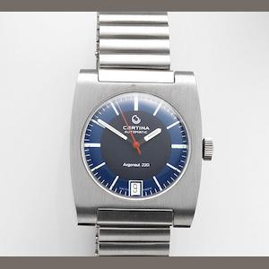 Certina. A stainless steel automatic calendar bracelet watch Argonaut 220, Ref:5801 220, Case No.70868254, Circa 1970