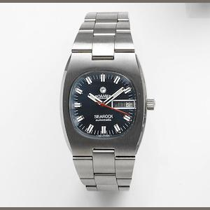 Roamer. A stainless steel automatic calendar bracelet watch Searock Automatic, Ref:523.2120.617, Case No.36003, Sold 25th February 1986