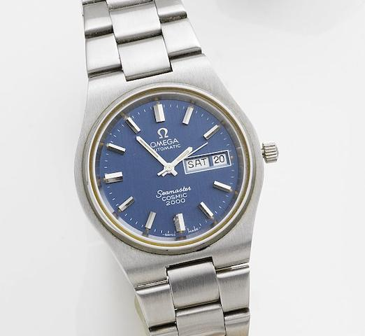 Omega. A stainless steel automatic calendar bracelet watchSeamaster Cosmic 2000, Circa 1972