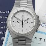 Omega. A stainless steel manual wind chronograph bracelet watch Speedmaster, Ref:145.0040, Made for the German market, Sold 18th July 1986