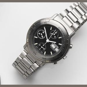 Bulova. A stainless steel automatic calendar chronograph bracelet watch Ref:11588, Case No.535591, Circa 1990