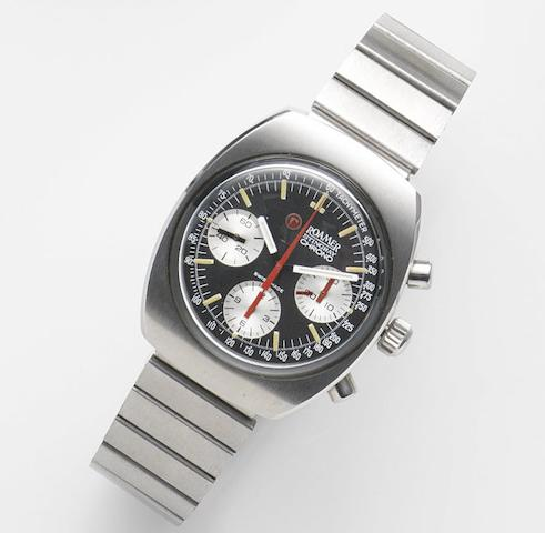 Roamer. A stainless steel manual wind chronograph bralcet watchStingray Chronograph, Ref:726-9120.602, Circa 1975