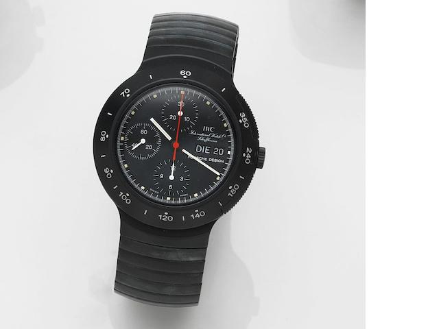 IWC. A PVD coated aluminium automatic chronograph calendar bracelet watch Porsche Design, Ref:3701, Case No.2324666, Sold 14th September 1988