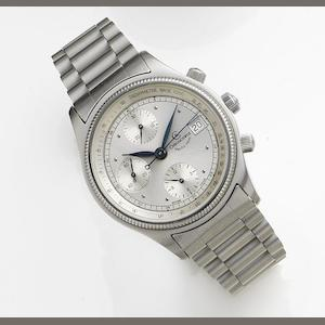 Chronoswiss. A stainless steel automatic calendar chronograph bracelet watch Pacific 100m, Circa 2000