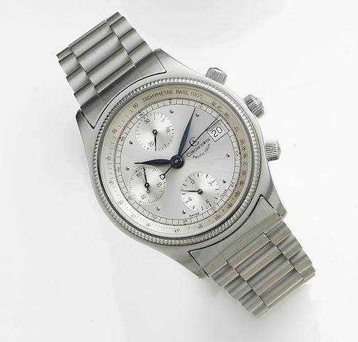 Chronoswiss. A stainless steel automatic calendar chronograph bracelet watchPacific 100m, Circa 2000