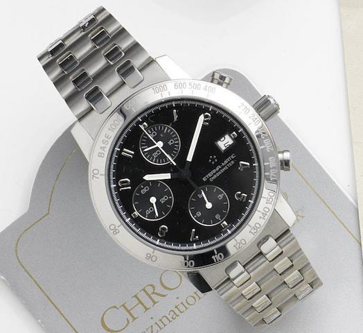 Eterna. A stainless steel automatic calendar chrongraph bracelet watch KonTiki Chronometer, Ref:1502.41, Movement No.924285, Circa 2000
