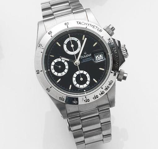 Bulova. A stainless steel automatic calendar chronograph bracelet watch Automatic Chronograph, Ref:TEC 33 ACC, Circa 2000