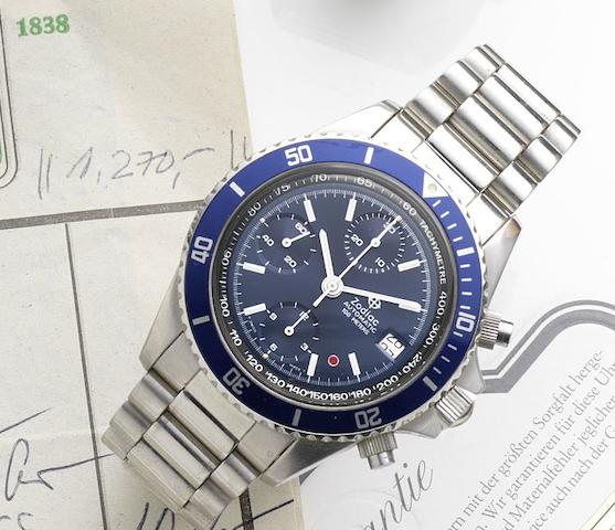 Zodiac. A stainless steel automatic calendar chronograph bracelet watchRef:406.24.38, Circa 2000