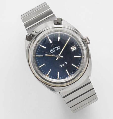 Certina. A stainless steel automatic calendar bracelet watch DS-3, Ref:919 1400 41, Case No.346625, Circa 1975