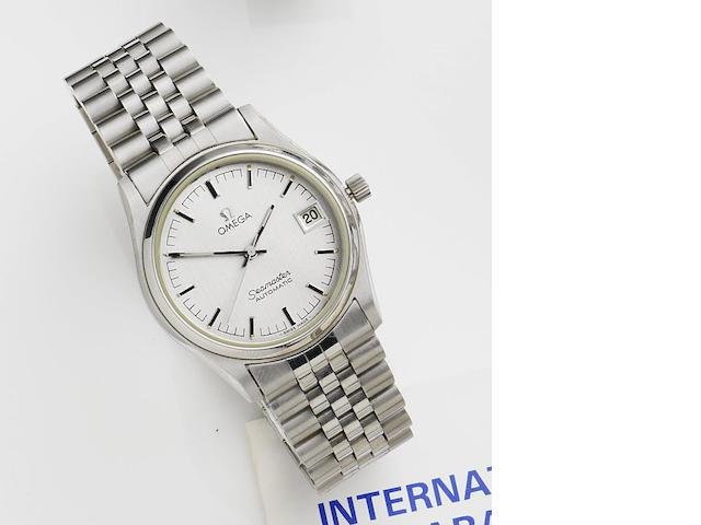 Omega. A stainless steel automatic calendar bracelet watch Seamaster Automatic, Ref:166.0263, Movement No.42415897, Circa 1979