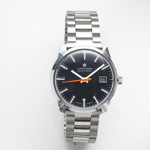 Junghans. A stainless steel automatic calendar bracelet watchAutomatic, Circa 1975