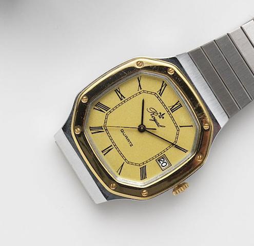 Royal. A stainless steel quartz bracelet watch Circa 1980