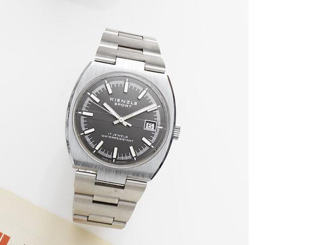 Kienzle. A stainless steel manual wind calendar bracelet watch Sport, Circa 1975