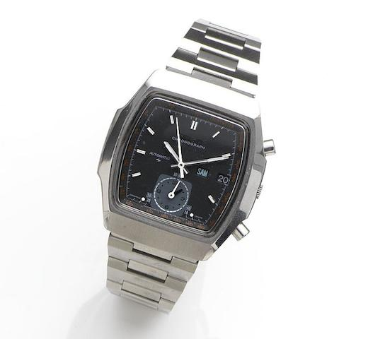 Seiko. A stainless steel automatic calendar chronograph bracelet watchRef:7016-5020, Case No.551108, Circa 1980