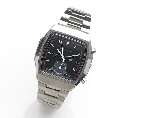 Seiko. A stainless steel automatic calendar chronograph bracelet watch Ref:7016-5020, Case No.551108, Circa 1980
