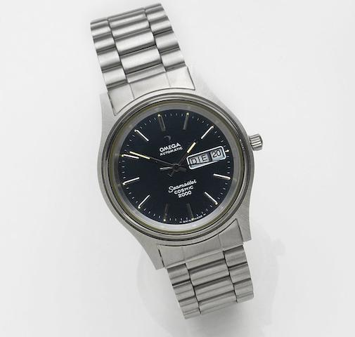 Omega. A stainless steel automatic calendar bracelet watchSeamaster Cosmic 2000, Sold 19th July 1981