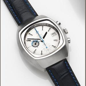 Omega. A stainless steel automatic calendar chronograph wristwatch Seamaster, Ref:176.005, Movement No.38290376, Circa 1974