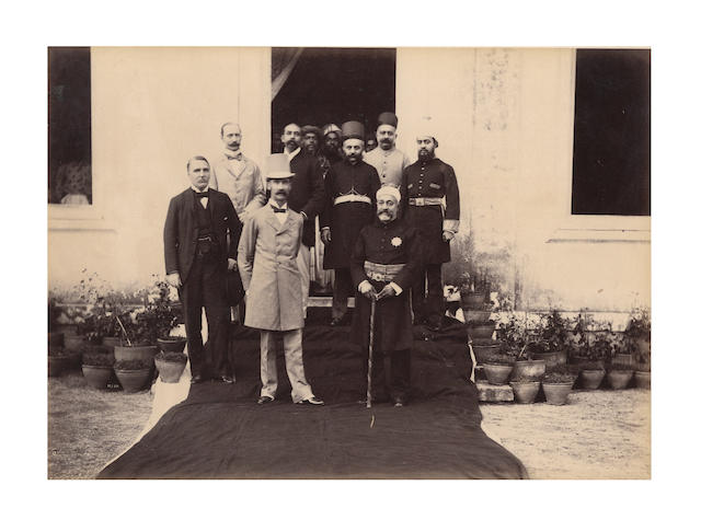"HYDERABAD ""Visit of Their Excellencies Lord and Lady Lansdowne to Hyderabad (Deccan,) 1892"", an album of approximately 37 images by Raja Deen Dayal, 1892"