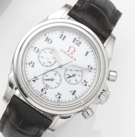 Omega. A stainless steel automatic chronograph wristwatch De Ville Olympic Series 'Rome 1960', Ref:4841.20.32, Case and Movement No.78056431, 2008
