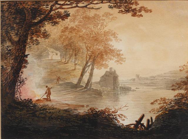 William Payne (British, 1760-1830) 'View near Barnstaple'