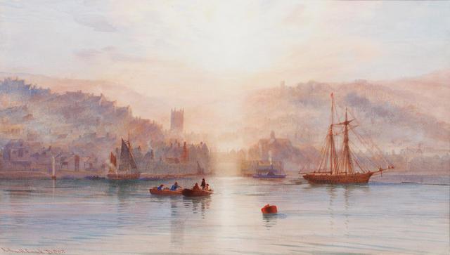 Arthur Henry Enock (British, active 1869-1910) Sunset on The Dart
