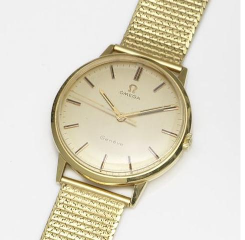 Omega. An 18ct gold manual wind centre seconds bracelet watch Ref:131.041, Movement No.29912428, Circa 1970