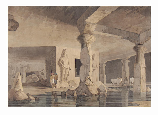 DANIELL (THOMAS and WILLIAM) Part of the Interior of the Elephanta, [Thomas Daniell, March 1800]