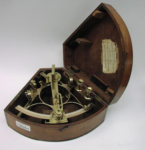 A 7ins.(18cm)radius 19th century German sextant