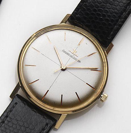 Jaeger-LeCoultre. An 18ct gold manual wind centre seconds wristwatch Ref:2285, Case No.958576A, Movement No.1655132, Circa 1964