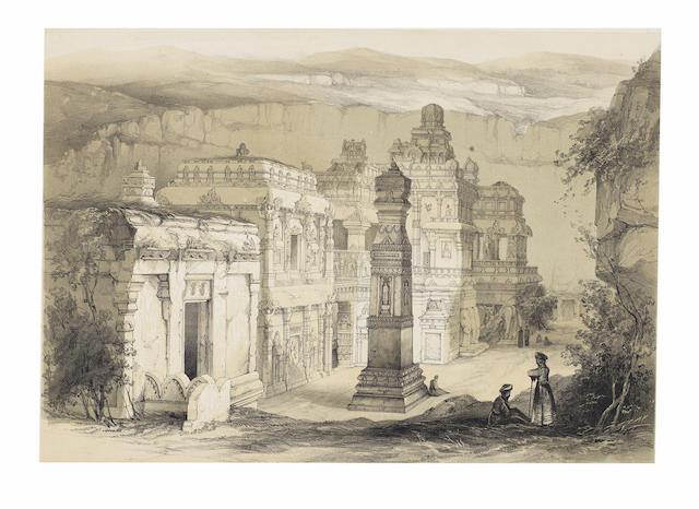 FERGUSSON (JAMES)  Illustrations of the Rock Cut Temples of India, atlas vol. only, 1845