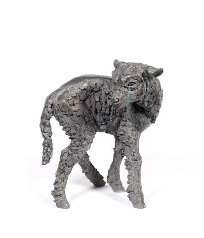 Sally Arnup (British, 1930) Lamb 40 cm. (15 3/4 in.) high