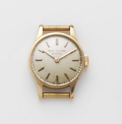 Patek Philippe. A lady's 18ct gold manual wind watch head Ref:1289, Case No.677737, Movement No.855068, Circa 1950