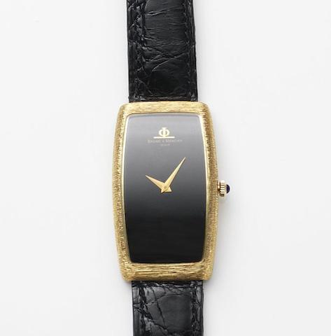 Baume & Mercier. An 18ct gold manual wind wristwatch Ref.37081, Case No.704402, Circa 1980