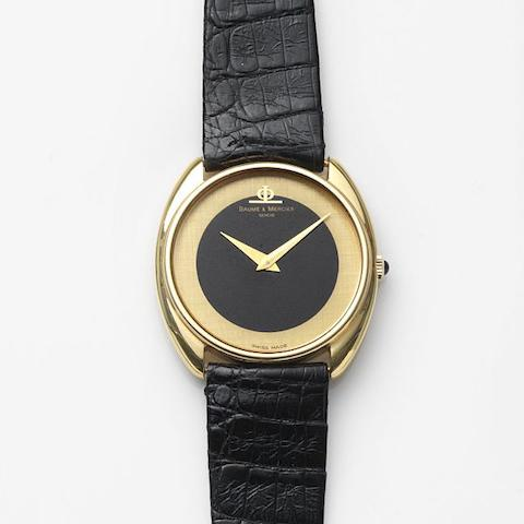 Baume & Mercier. An 18ct gold manual wind wristwatch Ref:35132, Case No.948496, Circa 1980