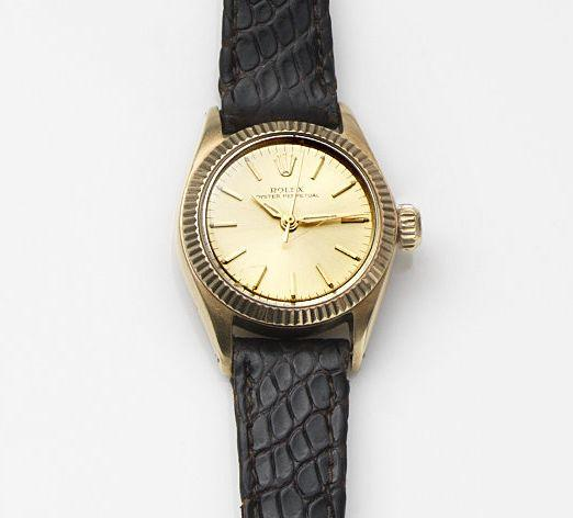 Rolex. A lady's 14ct gold automatic centre seconds wristwatch Oyster Perpetual, Ref:6619, Case No.790***, Movement No.273**, Circa 1961