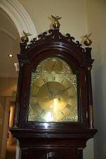 A George III mahogany longcase clock Engraved Ben Ward
