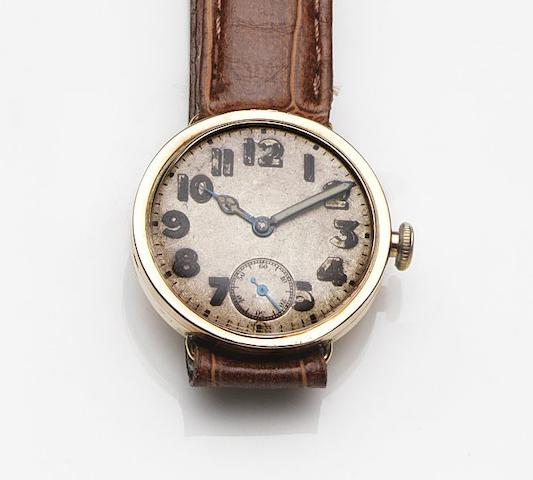 Rolex. A 9ct rose gold manual wind wristwatchRef:309, Circa 1925