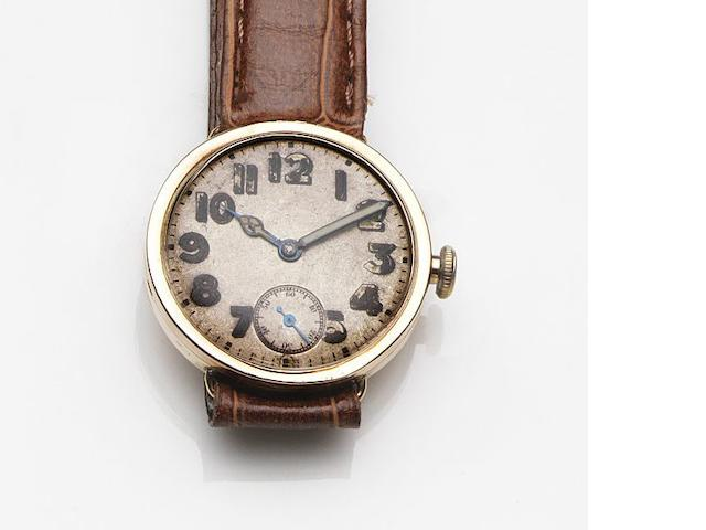 Rolex. A 9ct rose gold manual wind wristwatch Ref:309, Circa 1925